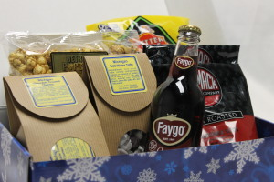 Amazing Michigan made products in a custom snowflake box.