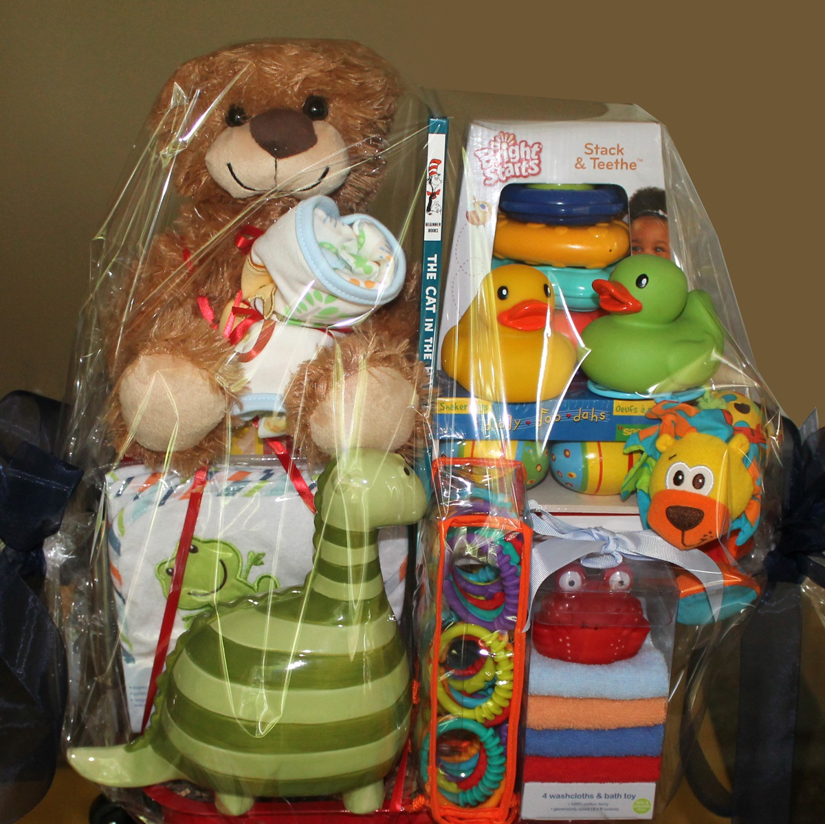 Custom baby shower gift basket